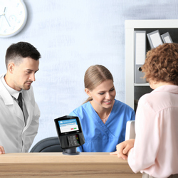 Give patients a fast, secure and engaging experience with smart terminals